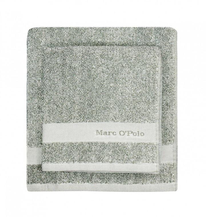 Marc O´Polo Melange Waschhandschuh Gästetuch Handtuch Duschtuch, green/off white
