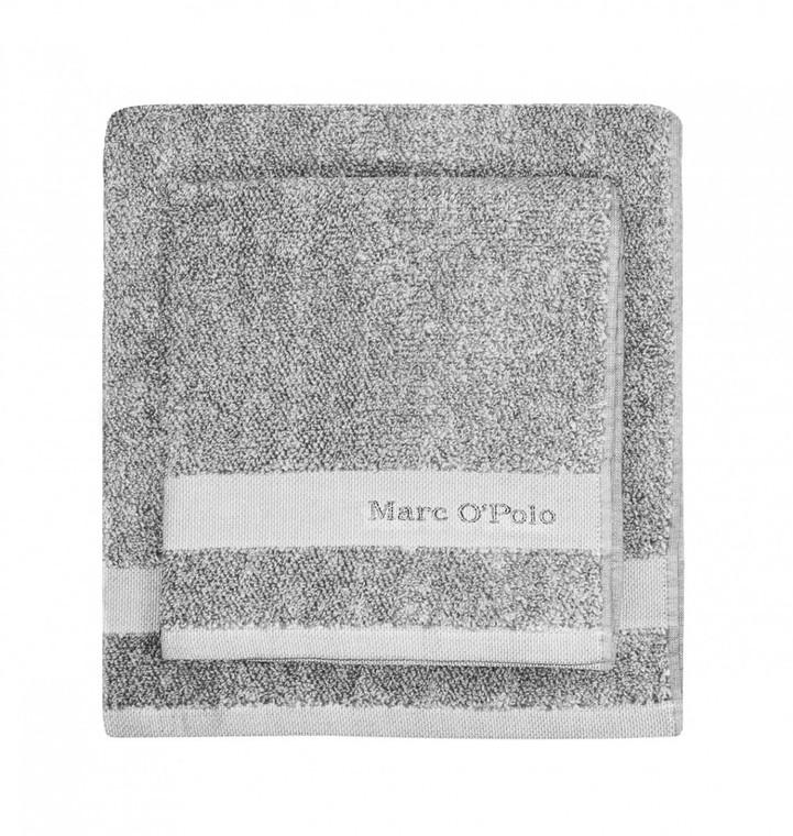Marc O´Polo Melange Waschhandschuh Gästetuch Handtuch Duschtuch, grey/white