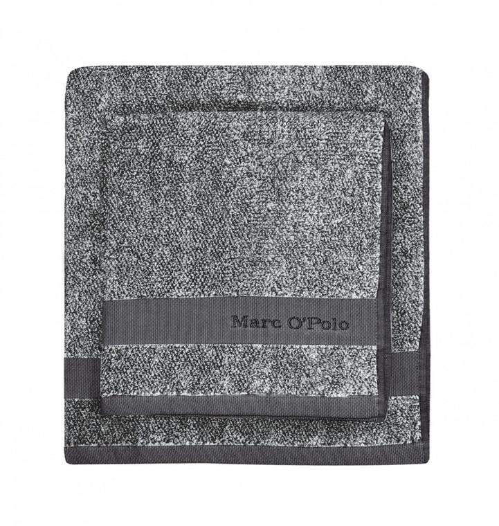 Marc O´Polo Melange Waschhandschuh Gästetuch Handtuch Duschtuch, anthracite/silver