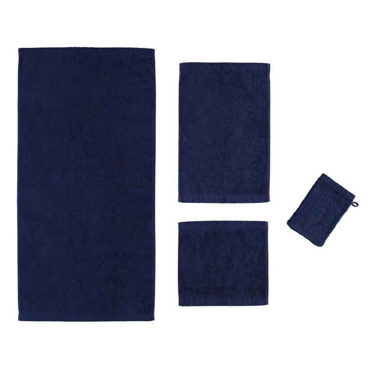 Cawö Lifestyle Waschhandschuh Gästetuch Handtuch Duschtuch, Fb.133 (navy)