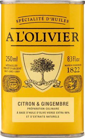 Olivenöl mit Zitrone & Ingwer 250 ml - A l'Olivier  – Bild 1