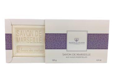 Savon de Marseille Baumwollblüte (Fleur de Coton) 125 g - Panier du Plaisir – Bild 1