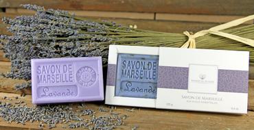 Savon de Marseille Lavendel (Lavande) 125 g - Panier du Plaisir – Bild 3