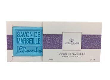 Savon de Marseille Maskulin (Masculin) 125 g - Panier du Plaisir – Bild 1