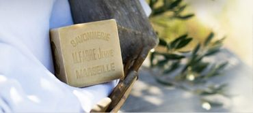 Marseiller Kernseife aus 72% Olivenöl 200 g - Marius Fabre – Bild 3