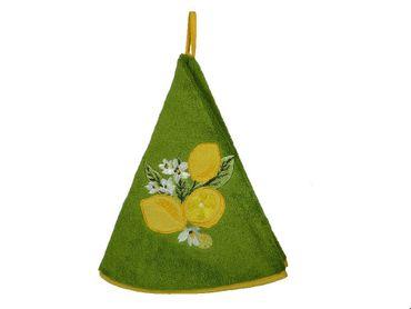 Handtuch rund Zitrone grün - Coton Blanc – Bild 1