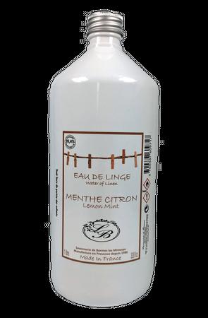 Wäschewasser (Eau de Linge) Minze-Zitrone 1 Liter - Savonnerie de Bormes  – Bild 1