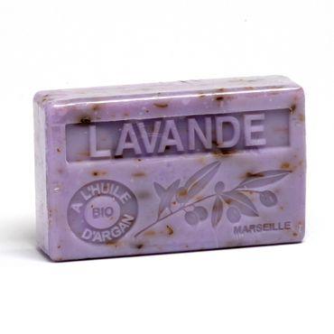 Arganölseife Lavendel mit Lavendelblüten 100 g - La Maison du Savon de Marseille – Bild 1