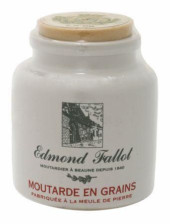 Dijon-Senf mit groben Senfkörnern im Steintopf 250 g - Edmond Fallot – Bild 1
