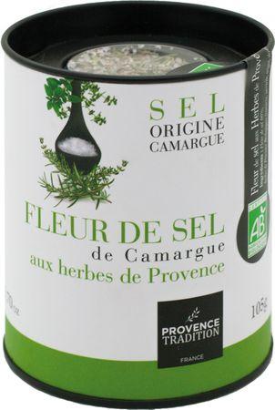 Meersalz aus der Camargue mit Kräutern der Provence (Fleur de Sel de Camargue aux herbes de Provence) 105 g - Provence Tradition – Bild 1