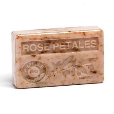 Arganölseife Rose mit Rosenblüten 100 g - La Maison du Savon de Marseille – Bild 1