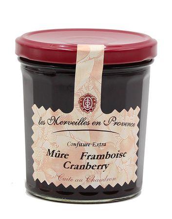 Konfitüre mit Brombeere, Himbeere und Preiselbeere 370 g - Confit de Provence – Bild 1