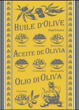 Geschirrtuch  'Huile d'Olive Jaune' - Sud étoffe – Bild 1