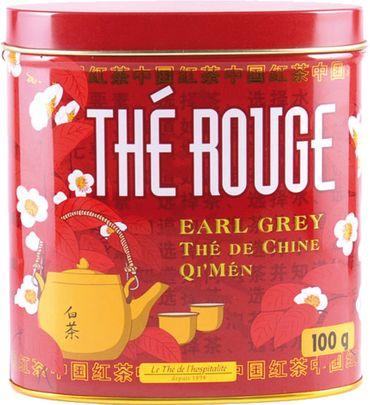 Roter Bio Tee mit Bergamotte-Aromen und Orangenblütenextrakt (Thé rouge Earl Grey) in dekorativer Metalldose 100 g - Terre d'Oc – Bild 1