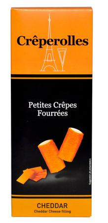 Mini Crêpes (Crêperolles) mit Cheddar-Füllung 100 g - MillCrepes – Bild 1
