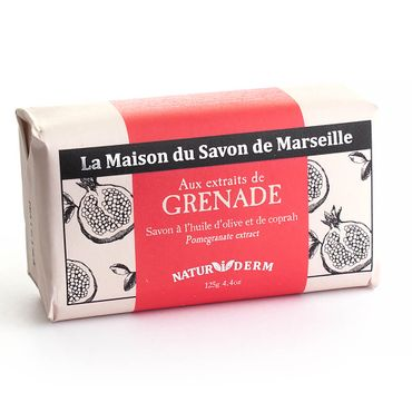 Naturseife 'NATURiDERM' Granatapfel 125 g - La Maison du Savon de Marseille – Bild 1