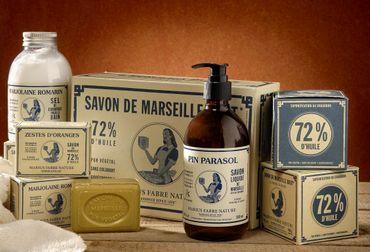 Flüssigseife mit ätherischen Ölen 'Pinie' 1 Liter Nachfüllflasche - Marius Fabre – Bild 3