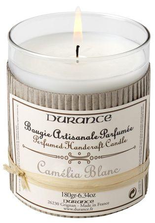 Duftkerze Weiße Kamelie 180 g - Durance – Bild 1