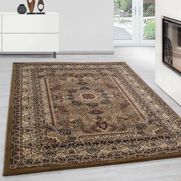 Orientteppich Wohnzimmer Klassische Optik Orientalisch Ornamente Beige Schwarz