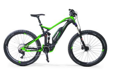KAWASAKI KSX 8.0 Full Suspension Mountain Bike 27.5+ SHIMANO STEPS 8000 grün