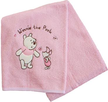 Winnie Puuh Kinderbadetuch rosa 70x140cm