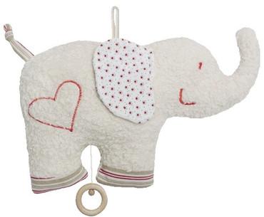 Bio Baby Spieluhr Elefant rot