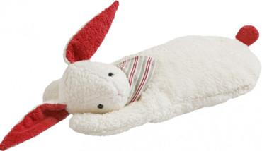 Kinder Wärmflasche Hase Plüsch mit Halstuch – Bild 1