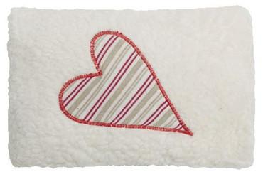 Mini Bio Dinkelkissen Herz rote Streifen