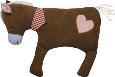 Bio Kuscheltier Kissen Pferd - Natur Kinderkissen