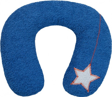 Bio Kinder Nackenhörnchen blau mit Stern