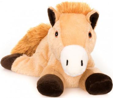 Wärme Stofftier Pferd hellbraun