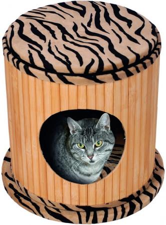 Kitty Bamboo II Zebra Design 36,5x35 cm Plüsch