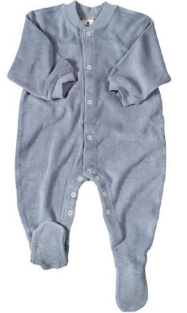 Baby Schlafanzug Frottee blau