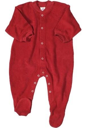 Bio Baby Schlafanzug Frottee rot