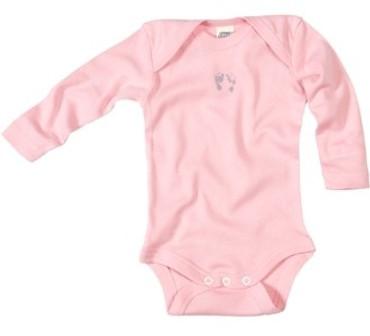 Bio Baby Body Langarm rosa