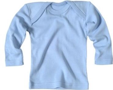 Bio Baby Unterwäsche Schlupfhemd langarm blau