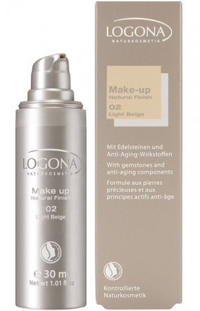 Logona Make up Natural Finish 2 light beige 30ml