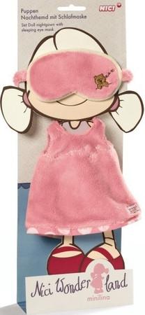 Nici Minilina Puppen Kleidung Nachthemd mit Schlafmaske