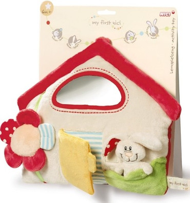 Nici Baby Lern Spielzeug Plüsch Hase Haus