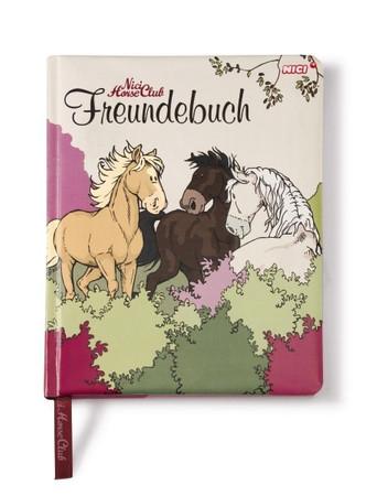Pferde Freundschaftsbuch für Mädchen - beige