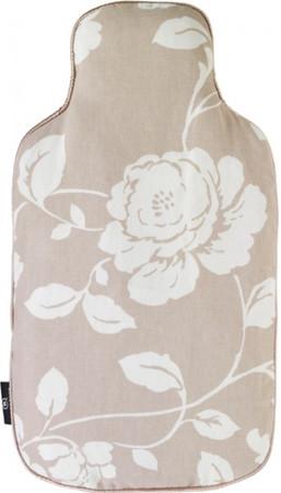 Körner Wärmflasche mit Bezug Blumen hellbraun – Bild 2