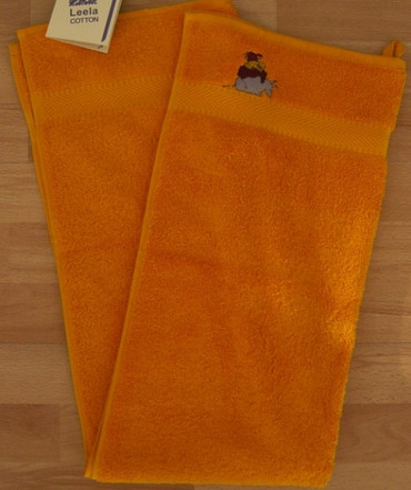 Bio Kinderhandtuch Frottee orange 50x100cm – Bild 1
