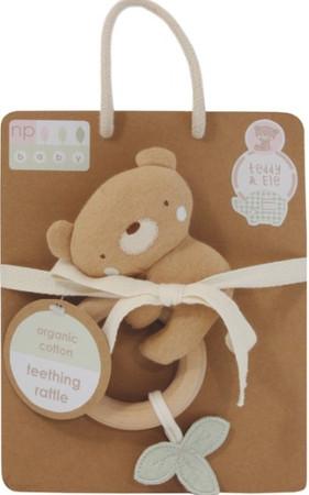 Baby Greifspielzeug mit Holz Beißring