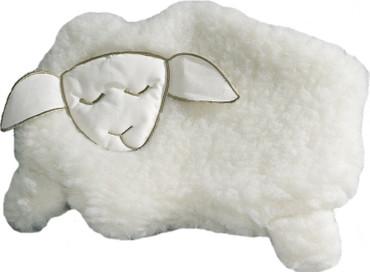 Saling Kirschkernkissen Schaf mit Wollbezug