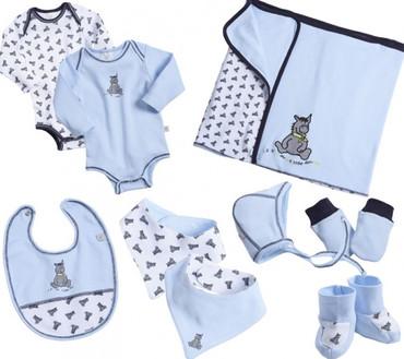 Baby Geschenk Set Esel für Jungen - 8-teilig