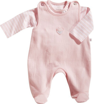 Bio Baby Frühchen Strampler Set rosa 44