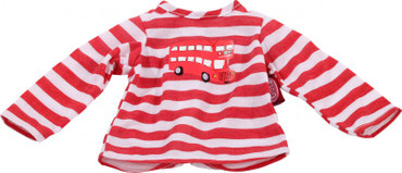 Götz Puppen T-Shirt rot/weiß - Babypuppen 30-33 cm