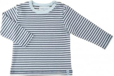 Lana Baby Ringelshirt blau - Langarm – Bild 1