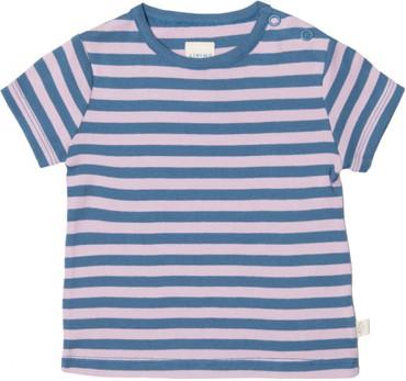 Bio Kurzarm-Babyshirt Mädchen rosa-blau – Bild 1