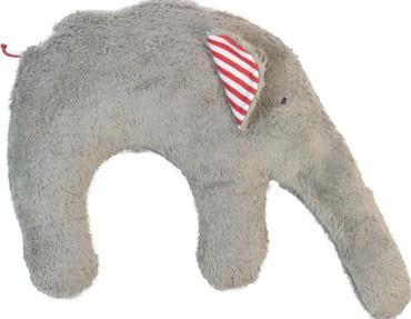 Nackenkissen Elefant grau bio - Hirsespelzkissen – Bild 1